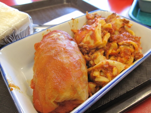 cabbage roll and lasagna... mmm...